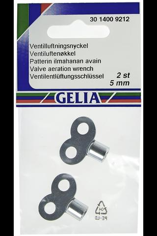 Gelia ilmaruuvin avain 5mm 2kpl