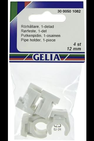 Gelia putkenpidin 1x12 mm 4kpl valkoinen