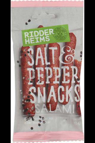 Ridderheims Snacks Salami Salt&Pepper 70g