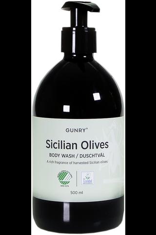 Gungry 500ml Sicilian olives suihkugeeli