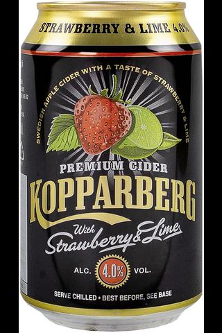Kopparberg Strawberry & Lime 4,0% omenasiideri tölkki 33cl