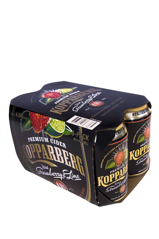 Kopparberg 6x0.33L Strawberry-Lime 4.0% siideri tölkki