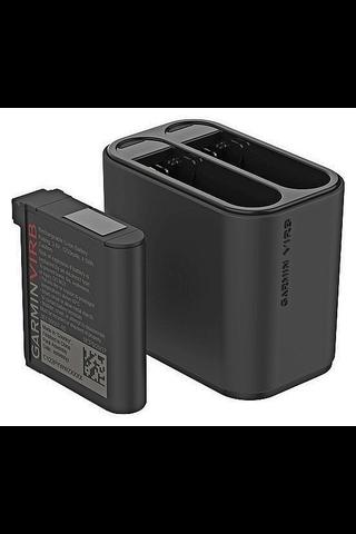 Garmin Virb Ultra 30 akkulaturi + vaihtoakku