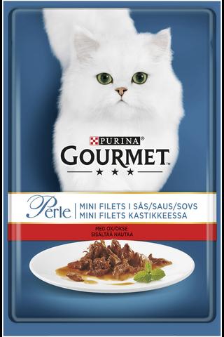 Gourmet 85g Perle Nautaa Mini Filets kastikkeessa kissanruoka