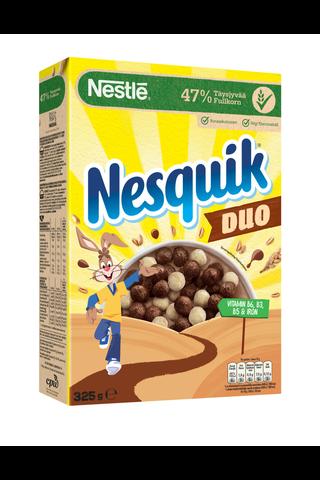 Nestlé Nesquik Duo 325g kaakaon ja valkosuklaan makuisia muroja