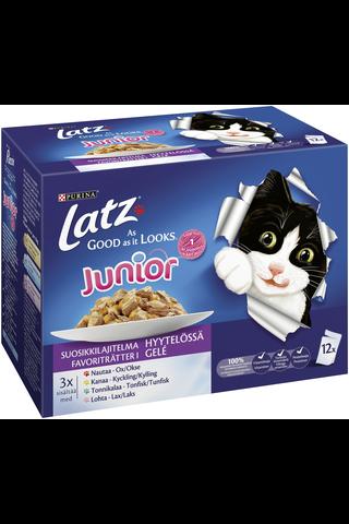 Latz 12x100g AGAIL Junior Suosikkilajitelma Hyytelössä lajitelma 4 varianttia kissanruoka
