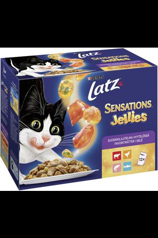 Latz 12x100g Sensations Jellies Suosikkilajitelma Hyytelössä lajitelma 4 varianttia kissanruoka