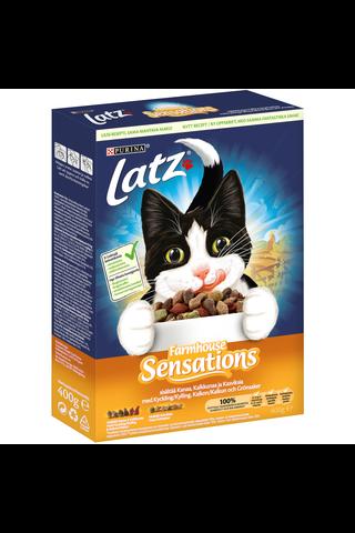 Latz 400g Farmhouse Sensations Kanaa, Kalkkunaa ja makuna Kasviksia kissanruoka
