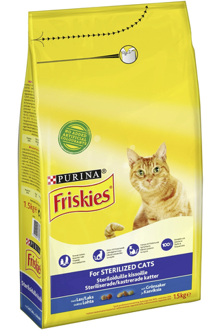 Friskies 1,5kg Sterile lohta ja kasviksia kissanruoka