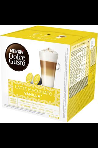 Nescafé Dolce Gusto 188,4g Latte Macchiato Vanilla maitokahvikapseli 16kpl