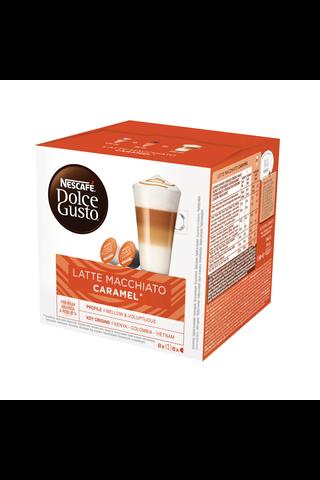 Nescafé Dolce Gusto 168,8g Latte Macchiato Caramel maitokahvikapseli 16kpl