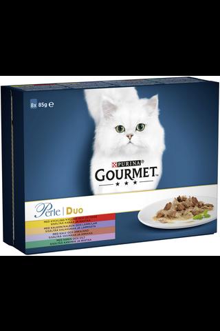 Gourmet 8x85g Perle Delicate Duo lajitelma 4 varianttia kissanruoka