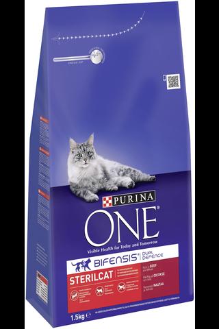 Purina One 1,5 kg Sterilcat Runsaasti Nautaa ja Vehnää kissanruoka