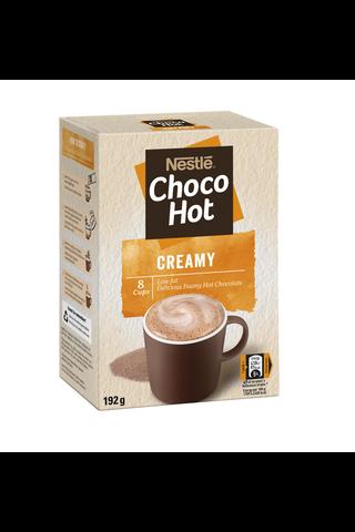 Nestlé 192g Choco Hot Creamy maitokaakaojuomajauhe annospussi 8kpl