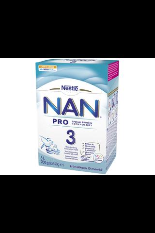 Nestlé Nan 700g Pro 3 maitopohjainen vieroitusvalmiste 10kk