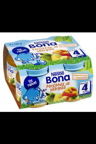 Nestlé Bona 4x125g Persikkaa ja päärynää hedelmäsose 4kk
