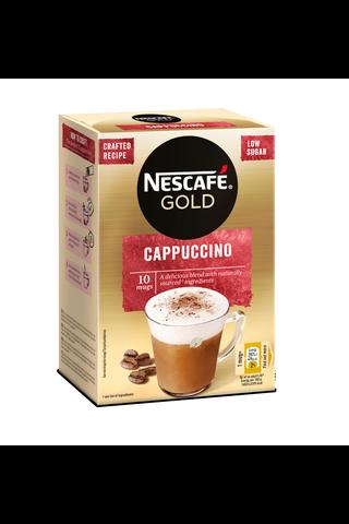 Nescafé 10kpl/125g Cappuccino erikoispikakahvi annospussi