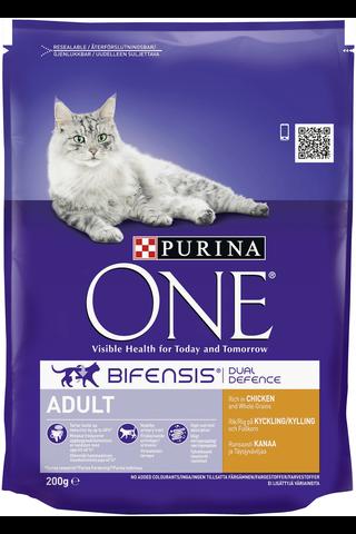 Purina One 200g Adult Runsaasti Kanaa ja Täysjyväviljaa kissanruoka