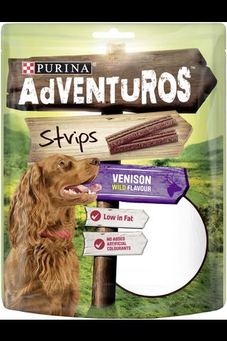 AdVENTuROS 90g Strips Metsäkauriin makuinen koiranherkku