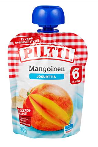 Piltti 90g Mangoinen jogurttivälipala 6kk annospussi