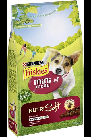 Friskies 1,4kg Mini Menu Nutri Soft Nautaa koiranruoka