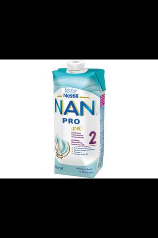 Nestlé Nan 500ml Pro 2 maitopohjainen käyttövalmis vierotusvalmiste