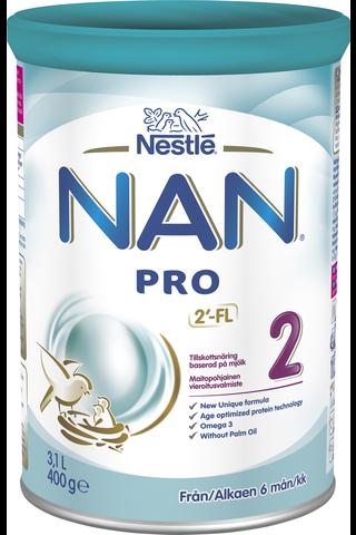 Nestlé Nan 400g Pro 2 maitopohjainen vierotusvalmiste