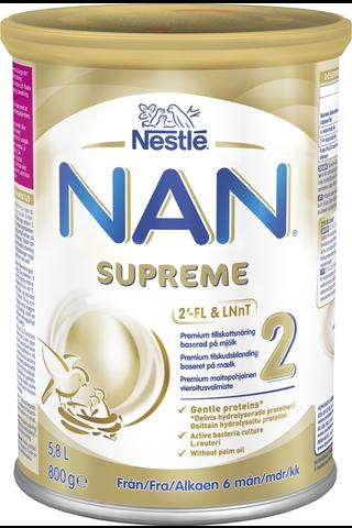Nestlé NAN 800g Supreme 2 premium maitopohjainen vieroitusvalmiste