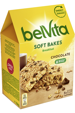 Belvita Soft Bakes Choc Chips välipalakeksi 250g