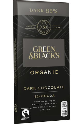 Green & Blacks ORGANIC DARK 85% chokladkaka 90g
