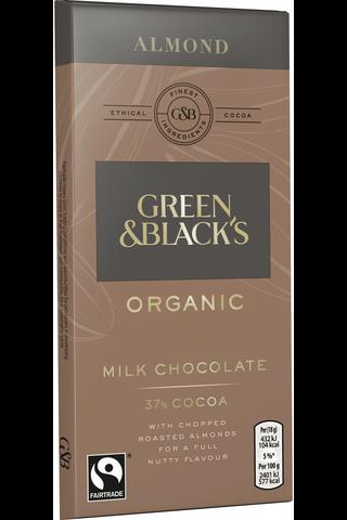 Green&Black ORGANIC Almond suklaalevy 90g