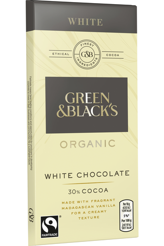 Green&Blacks ORGANIC White suklaalevy 90g