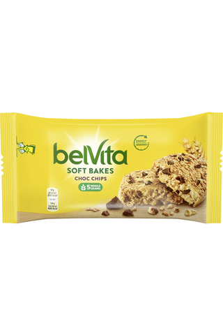 Belvita 50g Soft Bakes Choco Chips välipalakeksi 50g