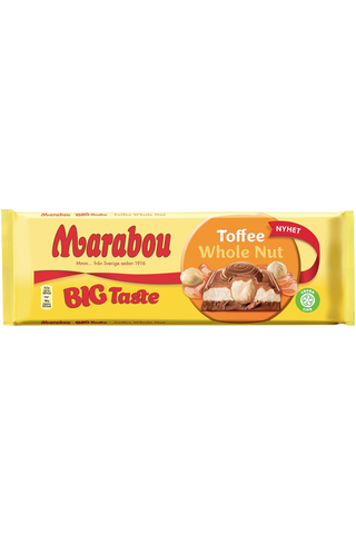 Marabou Big Taste Toffee Whole Nut suklaalevy 300g