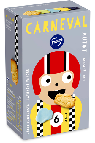 Fazer Carneval 175g n 30kpl Autot keksi