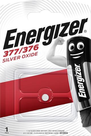 Energizer nappiparisto 377/376 hopeaoksidi 1,55V