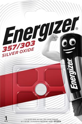 Energizer nappiparisto 357/303 hopeaoksidi 1,55V