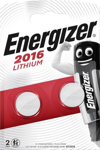 Energizer nappiparisto CR2016 lithium 2kpl