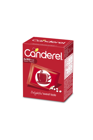 Canderel makeutusainepuriste täyttöpakkaus 500kpl 42,5g