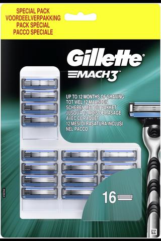 Gillette Mach3 terä 16kpl
