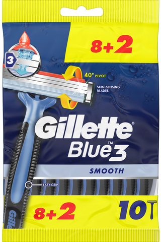 Gillette Blue3 Smooth varsiterä 8+2kpl