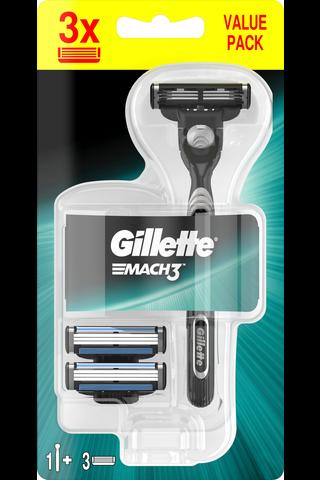Gillette Mach3 partahöylä + 2 vaihtoterää