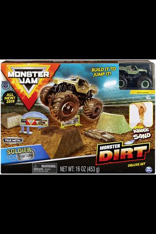 Monster Jam iso leikkisetti taikahiekalla