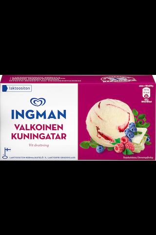 Ingman 1LT / 504g jäätelö kotipakkaus Valkoinen kuningatar laktoositon