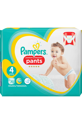 Pampers 32kpl Premium Protection Pants S4 (9-15kg) housuvaippa
