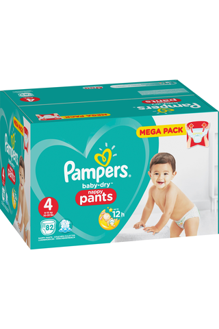 Pampers 82kpl Baby Dry Pants S4 9-15kg housuvaippa
