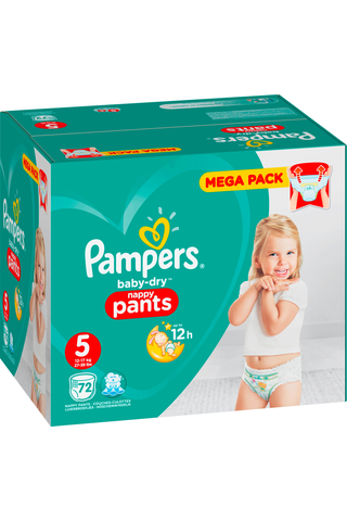 Pampers 72kpl Baby Dry Pants S5 12-17kg housuvaippa
