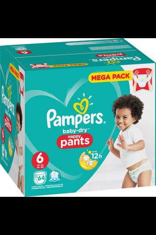 Pampers 64kpl Baby Dry Pants S6 15+kg housuvaippa