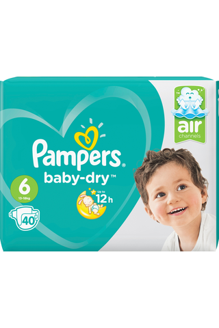 Pampers 40kpl BabyDry S6 13-18kg vaippa