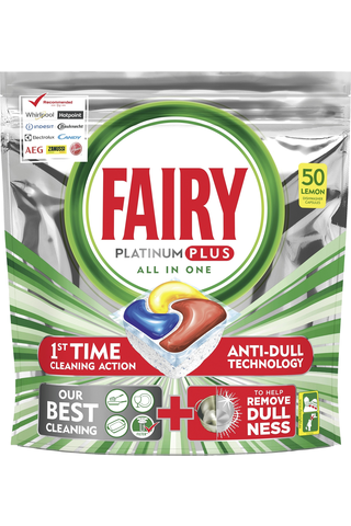 Fairy 50kpl Platinum Plus All in One Lemon konetiskitabletti